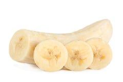 香蕉切片特写镜头 免版税库存照片