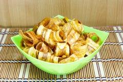 香蕉切片酥脆用焦糖 免版税库存图片