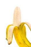 香蕉剥了皮 免版税库存照片