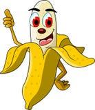 香蕉动画片赞许 库存照片