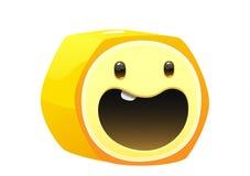 香蕉可口水多的明亮的动画片面孔 免版税库存图片