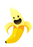 香蕉可口水多的明亮的动画片 免版税库存照片
