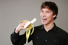 香蕉吃 免版税库存图片