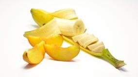 香蕉和桃子 库存图片