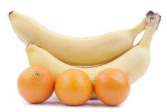 香蕉和桔子 库存图片