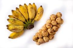 香蕉和Langsad 库存图片