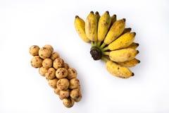 香蕉和Langsad 免版税库存图片