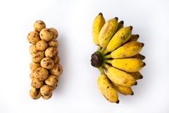 香蕉和Langsad 图库摄影