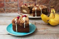 香蕉圈子蛋糕 库存图片