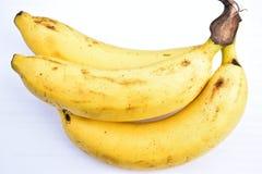 香蕉在白色背景隔绝 免版税库存图片