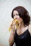 香蕉妇女 库存图片
