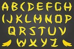 香蕉字体 向量例证