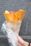 香蕉巧克力细亚麻绉纱 图库摄影