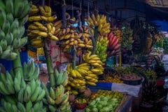 香蕉市场 库存照片