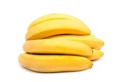 香蕉捆成一束查出 免版税图库摄影