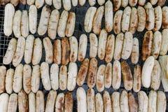 香蕉是火炉的许多站点 库存图片