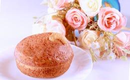 香蕉杯子蛋糕 免版税库存图片