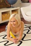 香蕉白肤金发的藏品 免版税库存照片