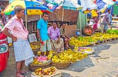 香蕉的卖主 免版税库存图片