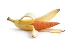 香蕉红萝卜 免版税库存图片