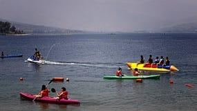 香蕉船舒比奇湾 免版税库存照片