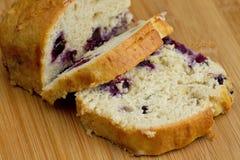 香蕉蓝莓面包 库存图片