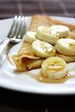 香蕉薄煎饼 库存图片