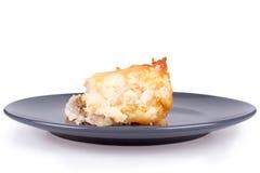香蕉蛋糕切片 免版税图库摄影
