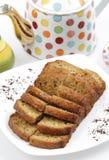 香蕉蛋糕大面包 免版税库存照片