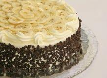 香蕉蛋糕筹码巧克力 免版税库存图片