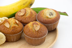 香蕉蛋糕 免版税库存照片