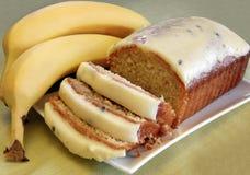 香蕉蛋糕 免版税图库摄影