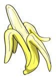 香蕉被剥皮的例证 库存图片