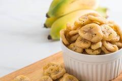 香蕉酥脆芯片 库存图片