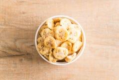 香蕉酥脆芯片 图库摄影
