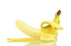 香蕉隔绝了白色背景 库存照片