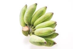 香蕉非常绿色查找 免版税库存照片