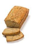 香蕉面包大面包在白色背景的 免版税库存照片
