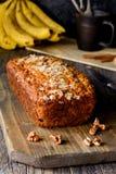 香蕉面包大面包 免版税库存照片