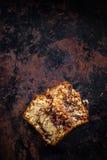 香蕉面包裁减与Nutella和榛子的 库存图片