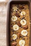 香蕉面包面团特写镜头 库存照片