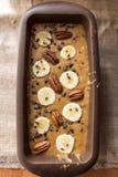 香蕉面包面团 库存图片