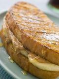 香蕉面包黄油eggy花生三明治 库存图片