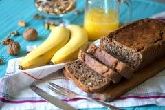 香蕉面包 免版税图库摄影