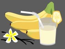 香蕉鸡尾酒 库存图片