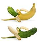 香蕉黄瓜 库存图片