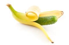 香蕉黄瓜 免版税库存图片