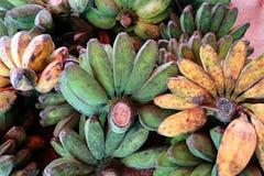香蕉水果市场在泰国 免版税库存照片