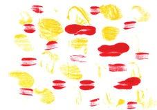 香蕉黄色抽象水彩背景 免版税库存图片