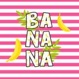 香蕉T恤杉设计传染媒介印刷品 库存图片
